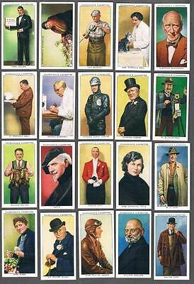 1938 Churchman's  In Town To-Night Tobacco Cards Complete Set of 50