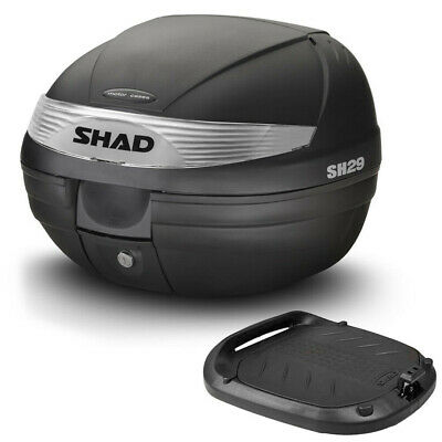 ced02142 Shad Sh29 Top-Case Bauletto 30 Lt Nero Opaco + Piastra Universale Moto/ scooter