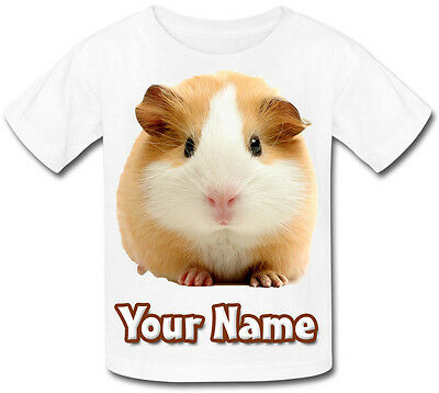Guinea Pig Personalised Child's /baby T-Shirt - Great Named Gift