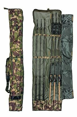 3 + 3 Made Up Dpm 12Ft 6 Rod Padded Holdall Bag Carp Or Pike Fishing Tackle Sl33