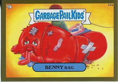 Garbage Pails Kids 2014 Series 1 Gold Parallel Base Card 24a BENNY BAG