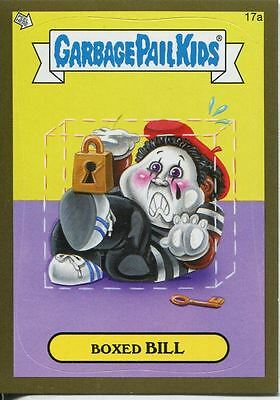 Garbage Pails Kids 2014 Series 1 Gold Parallel Base Card 17a BOXED BILL