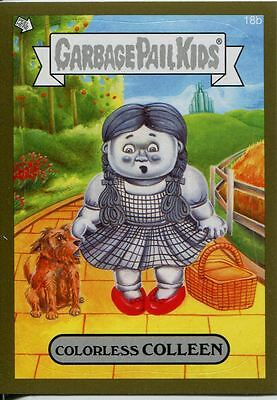Garbage Pails Kids 2014 Series 1 Gold Parallel Base Card 18b COLORLESS COLLEEN