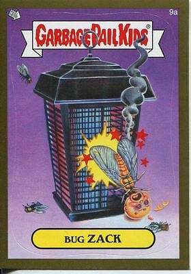Garbage Pails Kids 2014 Series 1 Gold Parallel Base Card 9a BUG ZACK