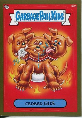 Garbage Pails Kids 2014 Series 1 Gold Parallel Base Card 40a CERBER GUS