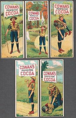 1920's Cowan's V7 Boy Scout Series Trading Cards Complete Set of 6