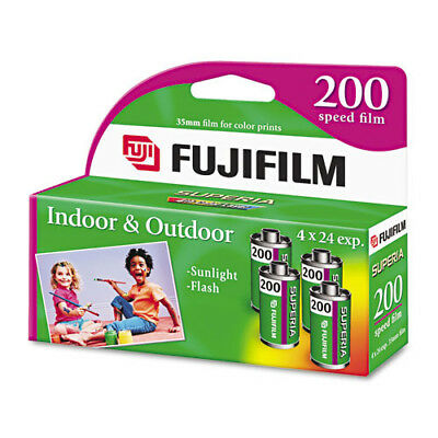 (100 Rolls) Fuji 200 35mm Film 4pk CA 135-24 Exp Fuji Camera 12/2017 Wholesale