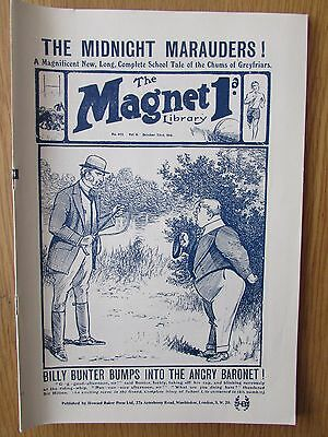The Magnet No 402 Facsimile copy featuring Billy Bunter (October 1915)