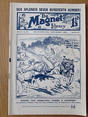 The Magnet No 700 Facsimile copy featuring Billy Bunter (July 1921)