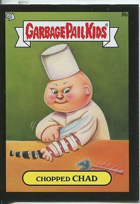 Garbage Pail Kids Mini Cards 2013 Black Parallel Base Card 9b Chopped CHAD