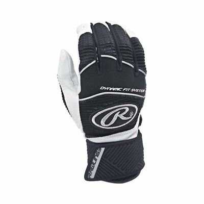 Rawlings Workhorse WORKCSBG-B-91 Black XL Batting Gloves