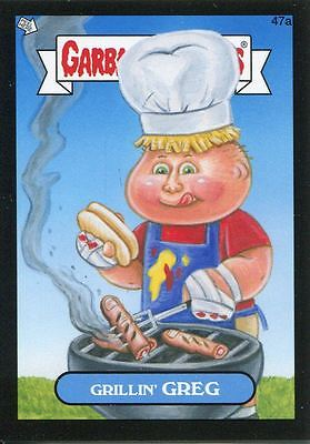 Garbage Pail Kids Mini Cards 2013 Black Parallel Base Card 47a Grillin' GREG