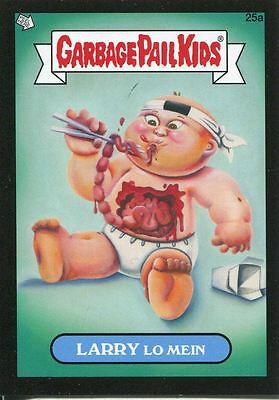 Garbage Pail Kids Mini Cards 2013 Black Parallel Base Card 25a LARRY Lo Mein