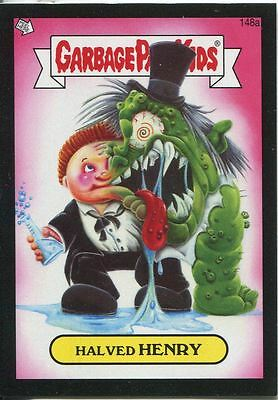 Garbage Pail Kids Mini Cards 2013 Black Parallel Base Card 148a Halved HENRY