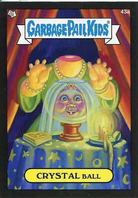 Garbage Pail Kids Mini Cards 2013 Black Parallel Base Card 43a CRYSTAL Ball