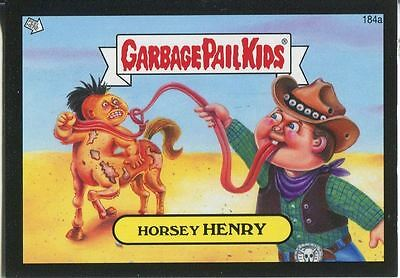 Garbage Pail Kids Mini Cards 2013 Black Parallel Base Card 184a Horsey HENRY