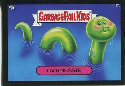Garbage Pail Kids Mini Cards 2013 Black Parallel Base Card 157a Loch NESSIE