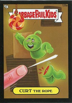 Garbage Pail Kids Mini Cards 2013 Black Parallel Base Card 126a CURT The Rope