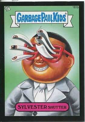 Garbage Pail Kids Mini Cards 2013 Black Parallel Base Card 181b SYLVESTER Shutte
