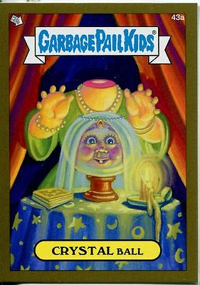 Garbage Pail Kids Mini Cards 2013 Gold Parallel Base Card 43a CRYSTAL Ball