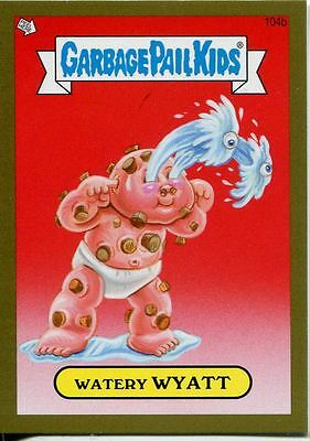 Garbage Pail Kids Mini Cards 2013 Gold Parallel Base Card 104b Watery WYATT