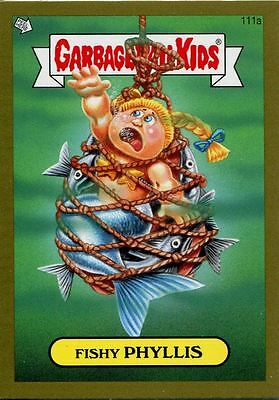 Garbage Pail Kids Mini Cards 2013 Gold Parallel Base Card 111a Fishy PHYLLIS