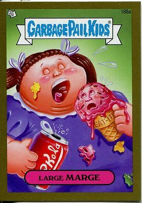 Garbage Pail Kids Mini Cards 2013 Gold Parallel Base Card 188a Large MARGE