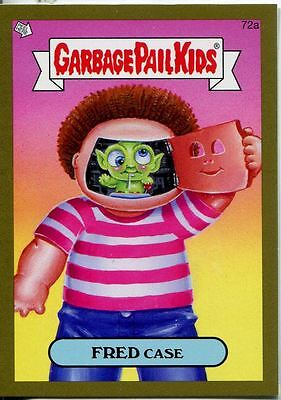Garbage Pail Kids Mini Cards 2013 Gold Parallel Base Card 72a FRED Case