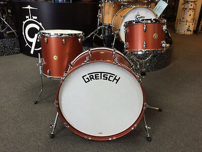 Gretsch Broadkaster Classic Bomber Satin Copper 3 Pc. Drum Set  13-16-24