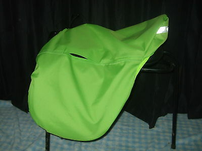 Waterproof Ride on Saddle Cover with Reflective Strip, Black and Hi Viz Colours