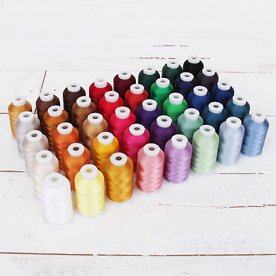 Best 40 Color Machine Embroidery Thread Set - Huge 1000 Meter Polyester Spools