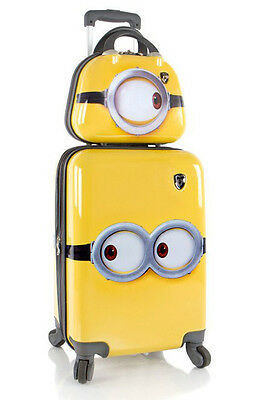"""Heys America Luggage Despicable Me Minions Wheeled 21"""" 2 Piece Suitcase Set"""