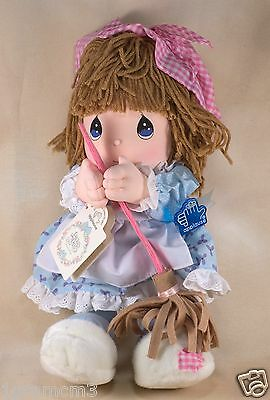 "Vintage New Precious Moments 14"" Winnie Stuffed Cloth Girl Doll w/Box 1993"