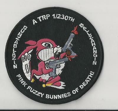 Us Army Patch - A Trp 1/230Th Aviation - Pink Fuzzy Bunnies Of Death