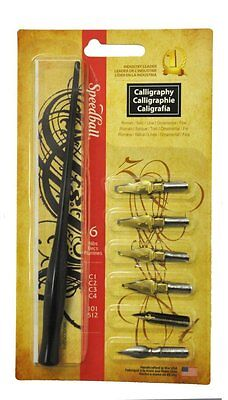 Speedball Calligraphy Kit - 1 Dip Pen - 6 Nibs - Right Hand