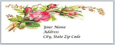 30 Personalized Return Address Labels Roses Buy 3 get 1 free (bo 25)
