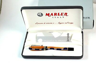 Marlen Continenti ASIA Fountain Pen MINT BOXED W/ 18K Broad Nib NR
