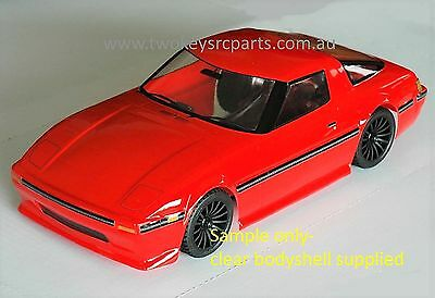 Clear Lexan Body 1:12 Mazda RX7 S 3 to suit 1:10 RC MINI Tamiya M06 1:12 RC Colt