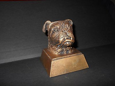 bronze-colored Bulldog paper weight (weighs 13.4 ounces) - beautiful!!!