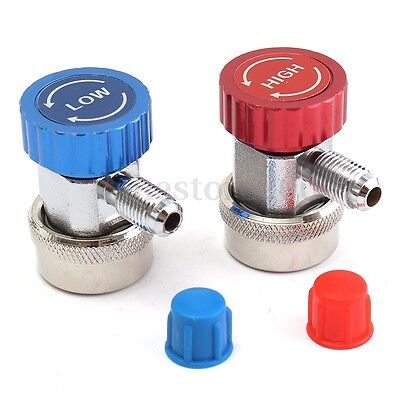 High and Low R134A Quick Coupler Adapters H/L Type AC Manifold Gauge Auto Set