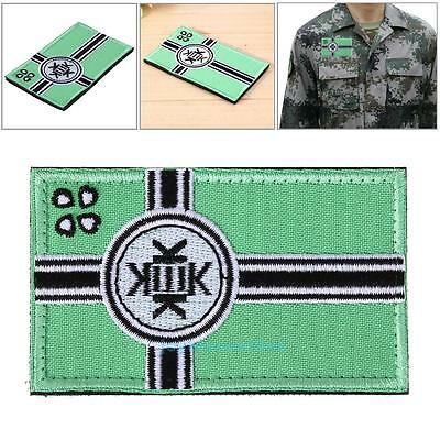 Kekistan KEK Fabric Flag Embroidered Hook&Loop Patches Arm Tactical Morale Badge