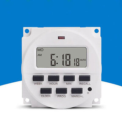 15.98 Inch LCD Digital Timer 220V AC 7 Days Programmable Time Switch TM618N-2