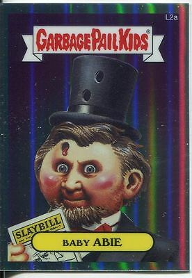 Garbage Pail Kids Chrome Series 1 Refractor Lost Card L2a Baby Abie