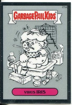 Garbage Pail Kids Chrome Series 1 Pencil Art Base Card 21a VIRUS IRIS