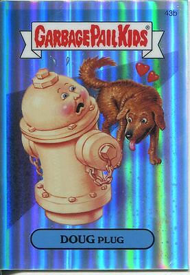 Garbage Pail Kids Chrome Series 2 Refractor Parallel 43b DOUG PLUG