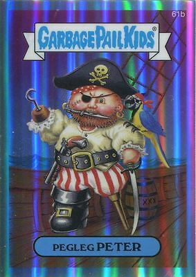 Garbage Pail Kids Chrome Series 2 Refractor Parallel 61b PEGLEG PETER