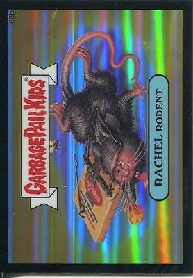 Garbage Pail Kids Chrome Series 2 Black Refractor Parallel 66b RACHEL RODENT