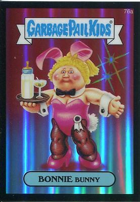 Garbage Pail Kids Chrome Series 2 Black Refractor Parallel 76a BONNIE BUNNY