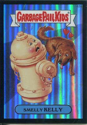 Garbage Pail Kids Chrome Series 2 Black Refractor Parallel 43a SMELLY KELLY
