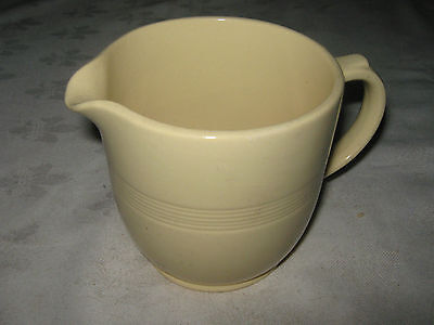 Vintage English 50's Wood's Ware  (Woods & Sons) Pale Yellow Jasmine 1 Pint Jug